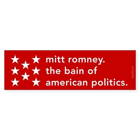 Mitt Romney the Bain Sticker (Bumper 50 pk)