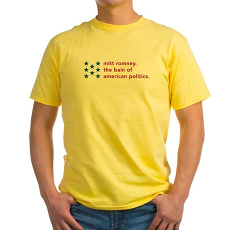 Mitt Romney the Bain Yellow T-Shirt