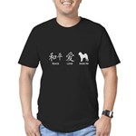 Chinese-Peace, Love, Shar Pei Men's Fitted T-Shirt