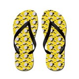 Bumble Bee Flip Flops