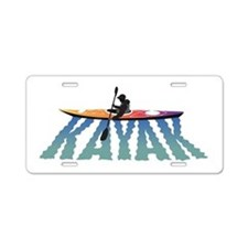 Kayak Ripple Aluminum License Plate