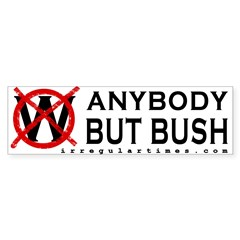 Anybody But Bush Bumper Sticker