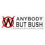Anybody But Bush Bumper Sticker