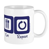 Sleep- Ski- Eat- Repeat Small Mug