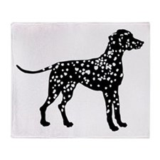 Dalmatian Silhouette Throw Blanket