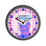 Smitten By Kittens Wall Clock
