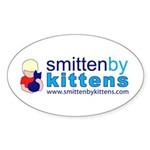 Smitten By Kittens Oval Sticker