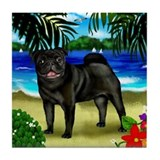 Linda Pug Dog #4 Tile Coaster