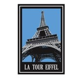 La Tour Eiffel Postcards (Package of 8)