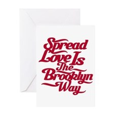 Brooklyn Love Red Greeting Card