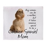 Cocker Mom Throw Blanket