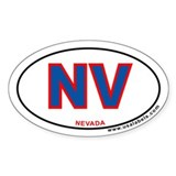 Nevada Oval Decal