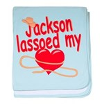 Jackson Lassoed My Heart baby blanket