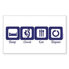 Sleep- Climb- Eat- Repeat Rectangle Decal