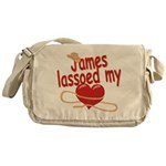 James Lassoed My Heart Messenger Bag