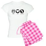 Peace Love New Jersey Women's Light Pajamas