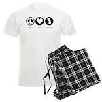 Peace Love New Jersey Men's Light Pajamas