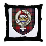 Cook Clan Badge Tartan Throw Pillow