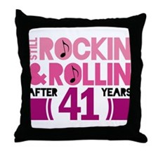 41st Anniversary Funny Gift Throw Pillow