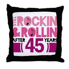 45th Anniversary Funny Gift Throw Pillow
