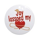 Jay Lassoed My Heart Ornament (Round)