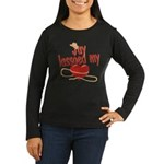 Jay Lassoed My Heart Women's Long Sleeve Dark T-Sh