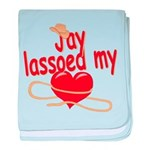 Jay Lassoed My Heart baby blanket