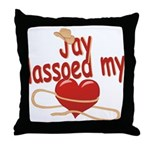 Jay Lassoed My Heart Throw Pillow