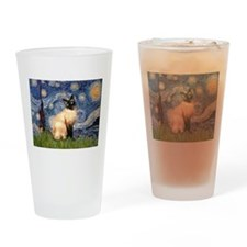 Starry Night Siamese Drinking Glass