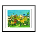 Old Town Large Framed Print