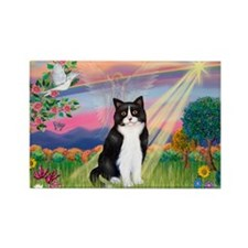 Angel (B&W) Cat Rectangle Magnet