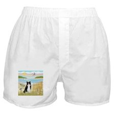 Rowboat / (B&W) Cat Boxer Shorts