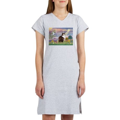 Cloud Angel / Calico Cat Women's Nightshirt