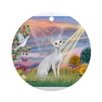 Cloud Angel & Devonshire Rex Ornament (Round)