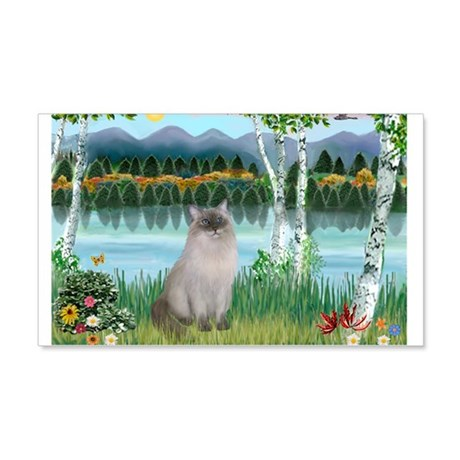Birches / Ragdoll 22x14 Wall Peel