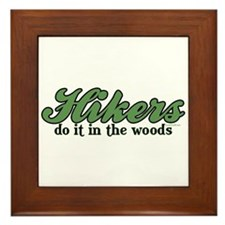 Hikers Do It In the Woods Framed Tile