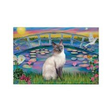 Lilies(JF)/Siamese Cat 24 ( Rectangle Magnet