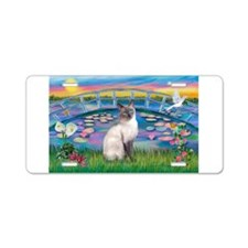 Lilies(JF)/Siamese Cat 24 ( Aluminum License Plate