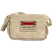 Attitude Game Developer Messenger Bag