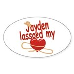 Jayden Lassoed My Heart Sticker (Oval)