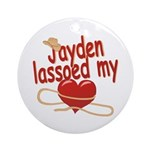 Jayden Lassoed My Heart Ornament (Round)