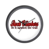 Rock Climbers Do It Against the Wall Wall Clock