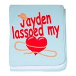Jayden Lassoed My Heart baby blanket
