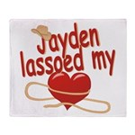 Jayden Lassoed My Heart Throw Blanket