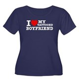 I love my Tattooed Boyfriend Women's Plus Size Sco