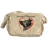 Norwegian Elkhound Messenger Bag