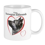 Norwegian Elkhound Small Mugs