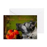 Norwegian Elkhound Thanksgiving Card