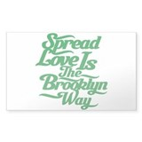 Brooklyn Love Green Decal