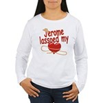 Jerome Lassoed My Heart Women's Long Sleeve T-Shir